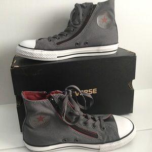Converse Double Zip Junior Size 4 Gray/Brick/Black